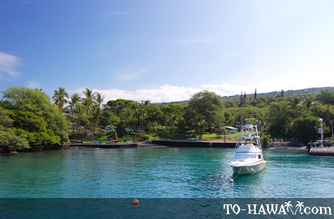 Boat harbor in South Kona