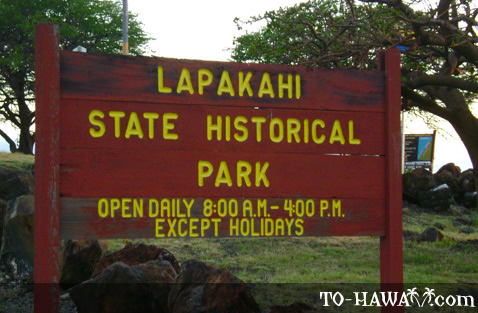 Lapakahi State Historical Park sign