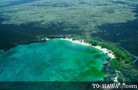 Mahai'ula Beach from the air