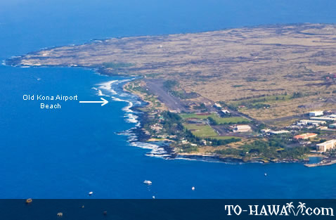 Old Kona Airport Beach aerial