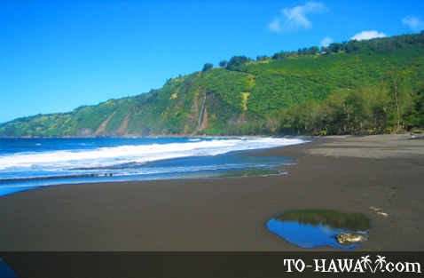 Waipi'o Beach scenery