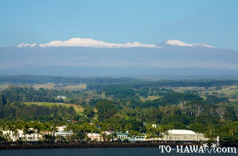 View to Hilo and Mauna Kea