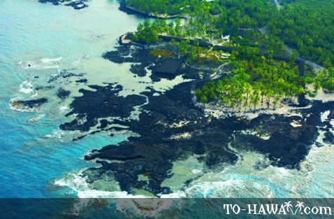 Honaunau from the air