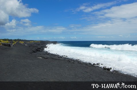 New Kaimu Black Sand Beach