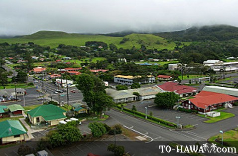 Aerial view of Waimea, Big Island