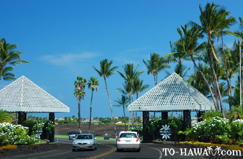 Entry to Waikoloa Beach Resort
