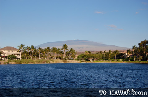 View to Mauna Kea from King's Shops