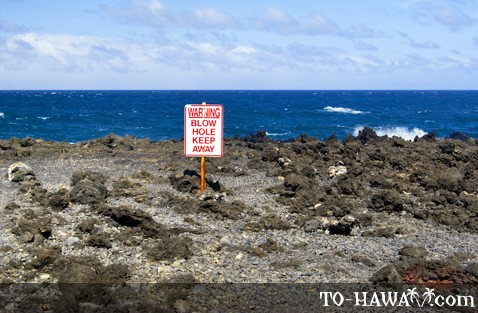 Blowhole warning sign