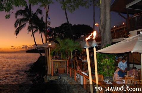 Maui oceanfront dining