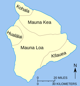 Big Island of Hawaii Geography  ToHawaiicom