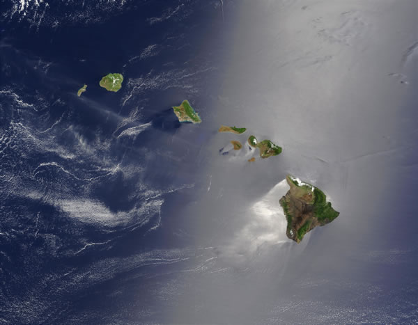 Hawaii seen from space