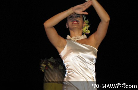 Modern hula dancer