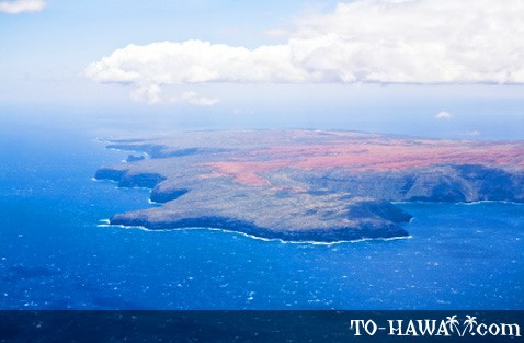 Kaho'olawe seen from the sky