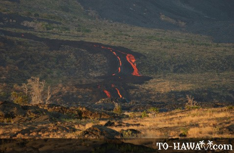 Active lava flow