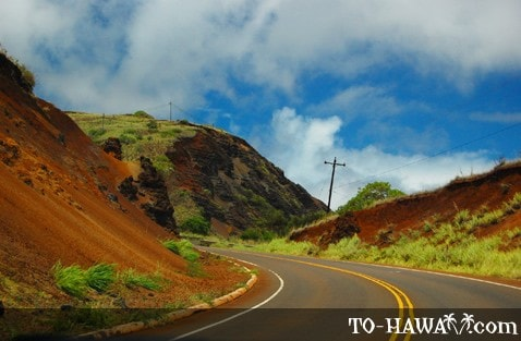 Scenic drive on Molokai