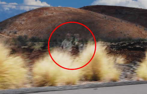 Two mysterious ghostlike figures spotted on Highway 19