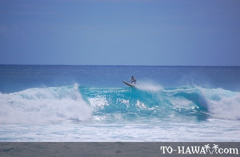Oahu surfing