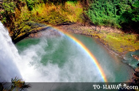 Rainbow at Wailua Falls, Kauai