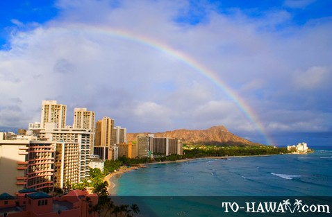 Rainbow over Waikiki, Oahu