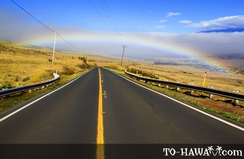 The road from Hawi to Waimea, Big Island'