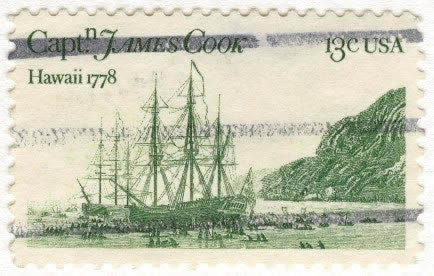 Captain James Cook's stamp