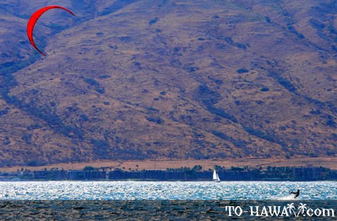 Kitesurfing on Maui