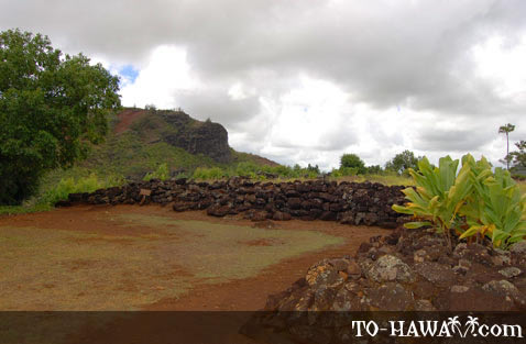 Lava rocks surround the heiau