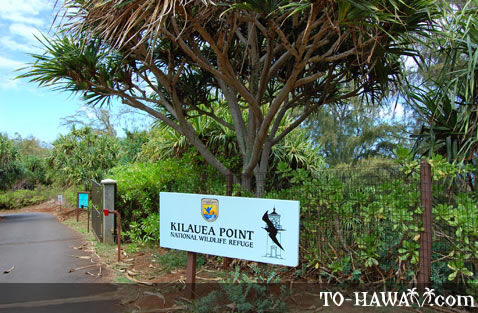 Entrance to Kilauea Wildlife Refuge