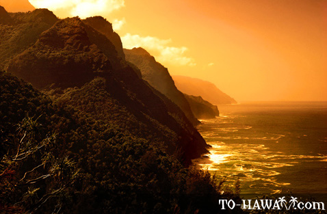 Sunset over Na Pali