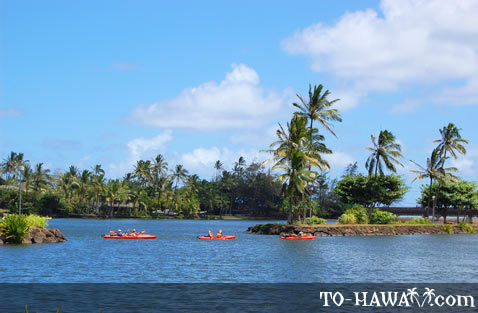 Kayaking on Wailua River