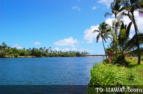 Looking toward the mouth of Wailua River