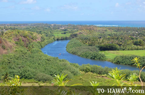 The only navigable river in Hawaii