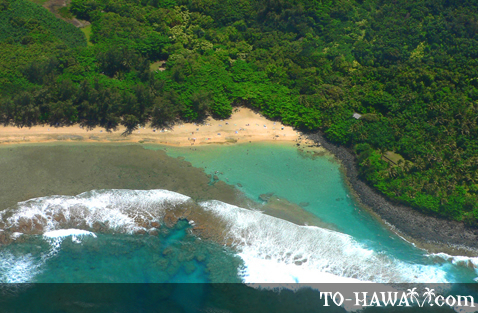 Aerial of Ke'e Beach