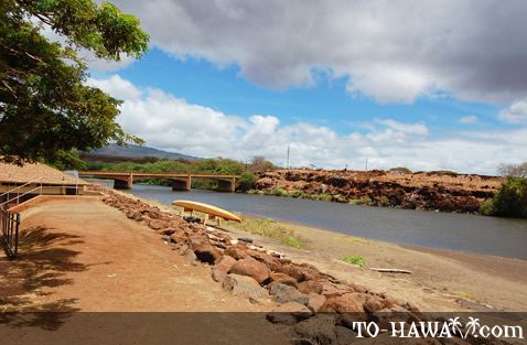 Located at the mouth of the Waimea River