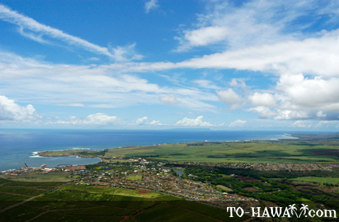 Aerial of Ele'ele and Hanapepe