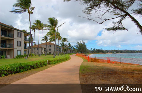 Kapa'a Beach Park and hotels