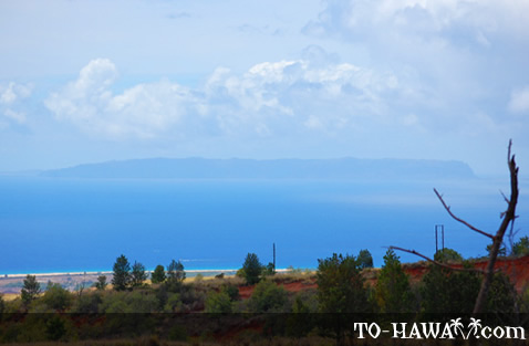 View to Ni'ihau Island