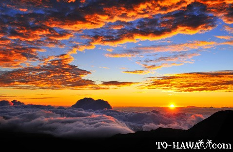 Sunrise on Haleakala summit