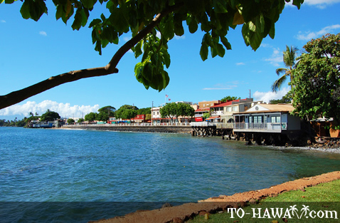 View to Lahaina's Front Street