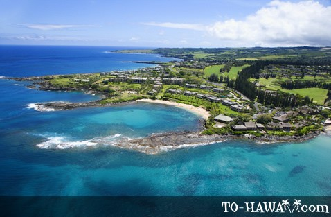 Aerial of Kapalua Bay