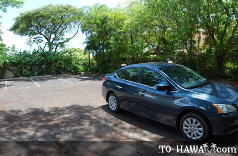 Second parking lot at Makena Surf Hotel