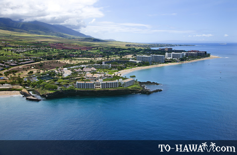 Aerial view of Ka'anapali