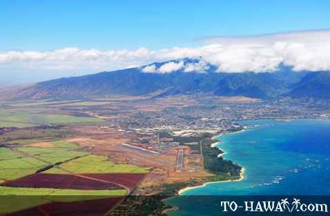 Aerial view of Kahului