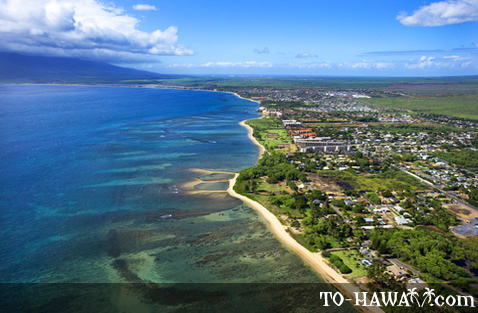 Aerial view of Kihei