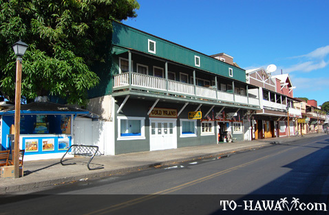 Lahaina Front Street buildings