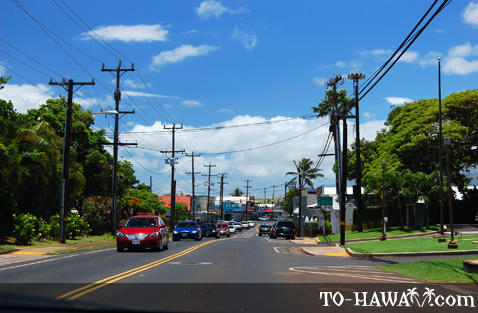Driving to Paia