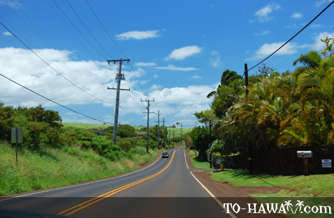 Road leading to Paia