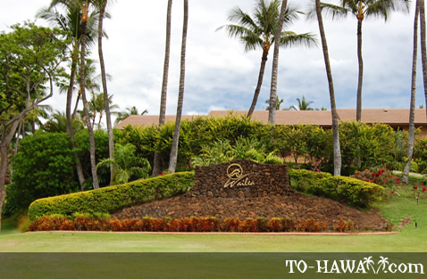Wailea entry sign