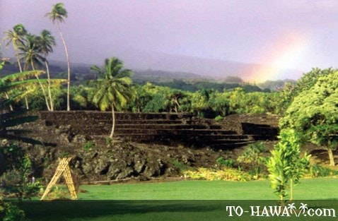 Piilanihale heiau in the Kahanu Garden
