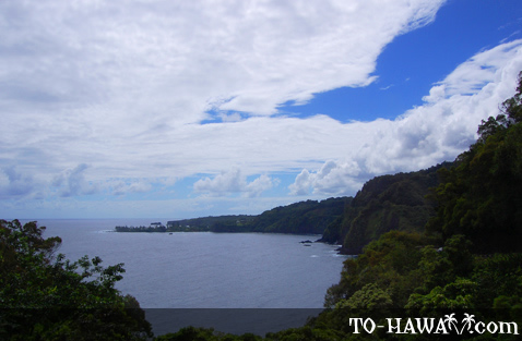 A cloudy day over Hana Highway